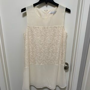 Cupcakes and Cashmere Cream Lace Shift Dress